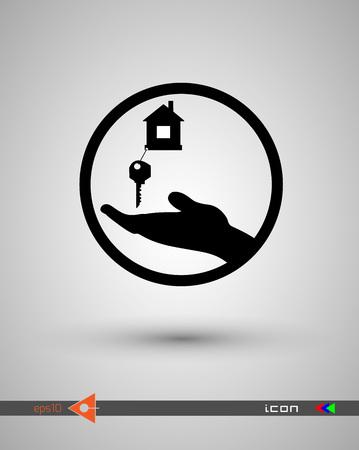 House key black icon.