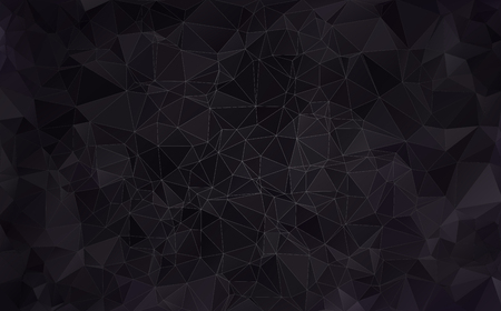 bleak: Abstract background made of small triangles. Dark, black Illustration