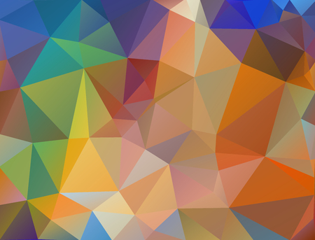 diamond shape: Multicolor geometric rumpled triangular low poly origami style gradient illustration graphic background. Illustration
