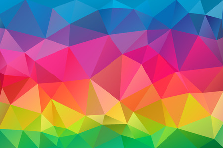 triangle shaped: Multicolor geometric rumpled triangular low poly origami style gradient illustration graphic background. Illustration