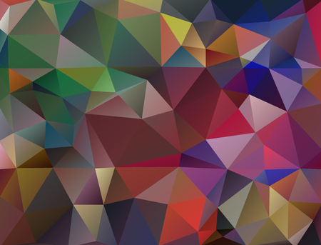 Multicolor geometric rumpled triangular low poly origami style gradient illustration graphic background. Illustration