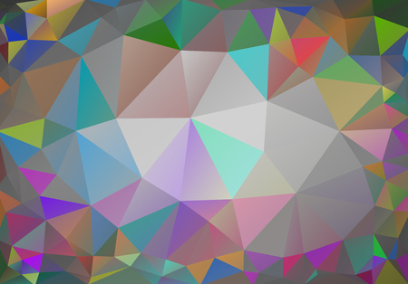 Multicolor geometric rumpled triangular low poly origami style gradient illustration graphic background. Vector polygonal design for your business. Cool color, gamma