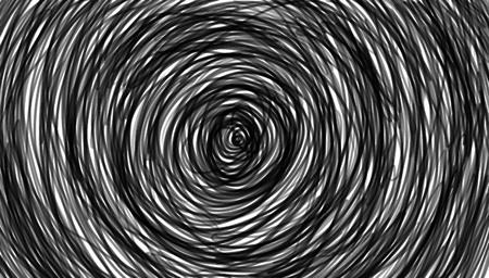 図スパイラル、背景。白い背景の上の催眠、ダイナミックな渦オブジェクト