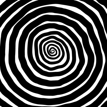 Illustration spiral, background. Hypnotic, dynamic vortex Object on white background Stock Photo