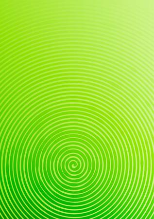Abstract background a4 format. Halftone pattern spiral. Green, green yellow Ilustrace