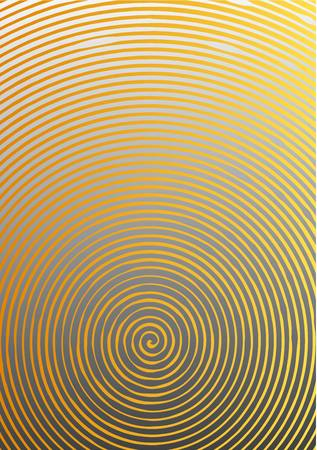 Abstract background a4 format. Halftone pattern spiral. Gold, yellow