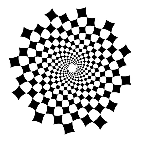 Swirl, vortex background. Rotating spiral. Square, diamond, technical, geometry, geometric.