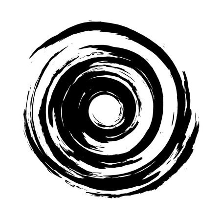 Spiral paintbrush illustration.