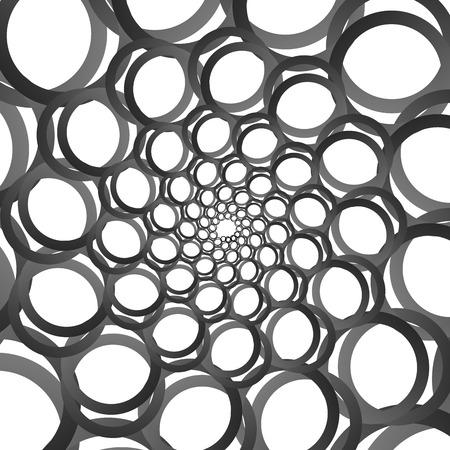 Spiral pattern design illustration.