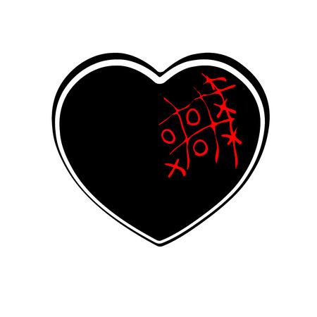 Tic-tac-toe heart icon.