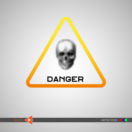 terribly: The sign of danger icon.