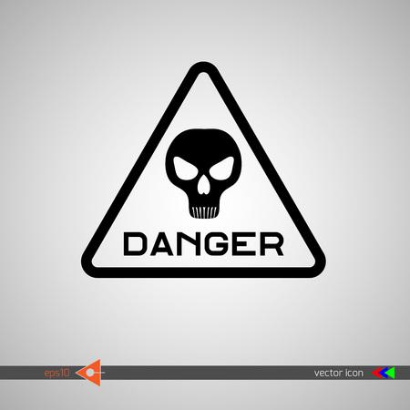 monstrous: Danger signage.