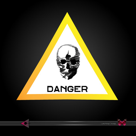 Danger sign icon. Illustration