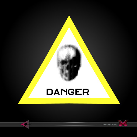 terribly: Danger sign icon. Illustration