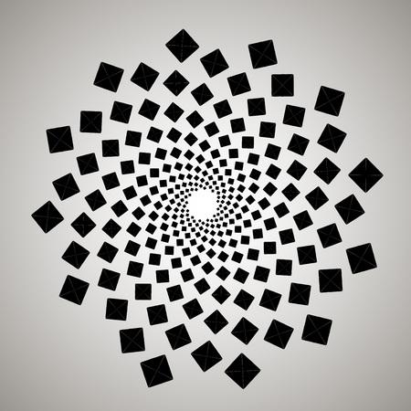 Spiral geometric pattern.