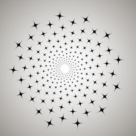 Spiral geometric pattern. 向量圖像