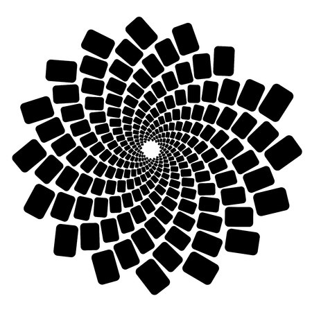 Spiral abstract pattern Ilustrace