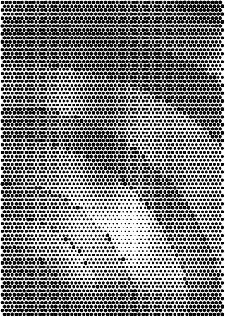 Minimalistic design. Halfton spiral cover A4 format. Halftone vector concentric squares, spiral lines, modern business background. Vertical simple cover for presentation, network, computer technology clean background. Illustration