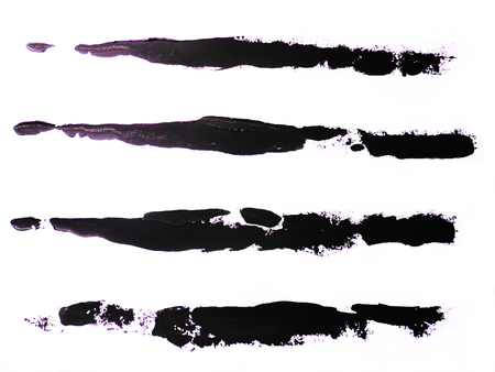Set of black strokes on a white background. Grunge elements.