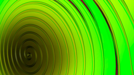 Green, yellow 3d spiral. Abstract background. Interesting cover in modern style Stock Photo