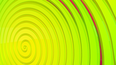 Green, yellow 3d spiral. Abstract background. Interesting cover in modern style 版權商用圖片