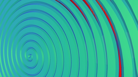 Azure, bright, blue 3d spiral. Abstract background. Interesting cover in modern style Stock Photo