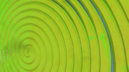 Green, yellow 3d spiral. Abstract background. Interesting cover in modern style Reklamní fotografie