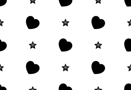 Seamless vector pattern of hearts. Seamless background. Feast of St. Valentine's Day. Asterisk, beauty, romance