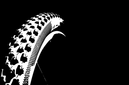 Cover the bicycle wheel. Moto concept on a black background. Graphical representation of the contour of a bicycle wheel.