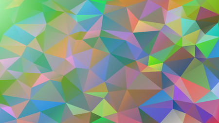 Abstract low poly background of triangles in Cold, multicolor, rainbow colors. Vector illustration.