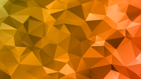 Abstract low poly background of triangles in Red, orange, yellow colors as Substrate for design. Illustration