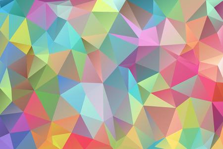 Resumen polígono multicolor, fondo de polígono bajo. Transfusión de color. Todos los colores del arcoiris. Multicolor. Efecto acuarela Patrón geométrico