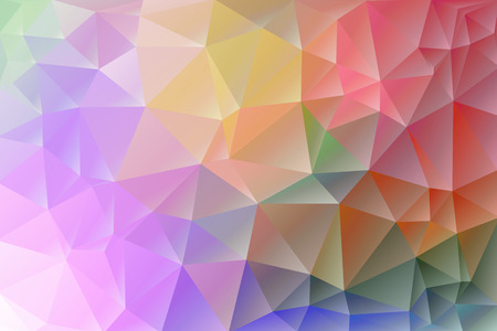 Abstract, colorful, multicolor and iridescent background of triangles Vettoriali
