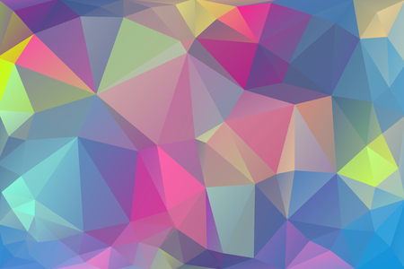 Abstract, colorful, multicolor and iridescent background of triangles Ilustrace