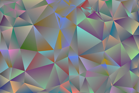 Warm abstract multicolor background of triangles from pink, red, yellow shades