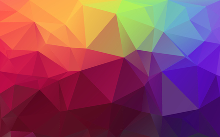 Multicolor background of triangles. Bright colors, festive abstract background.