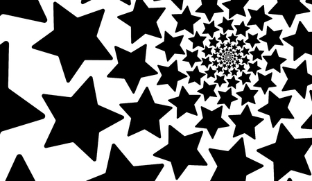 Isolated spiral of stars on a white background. Design Element.