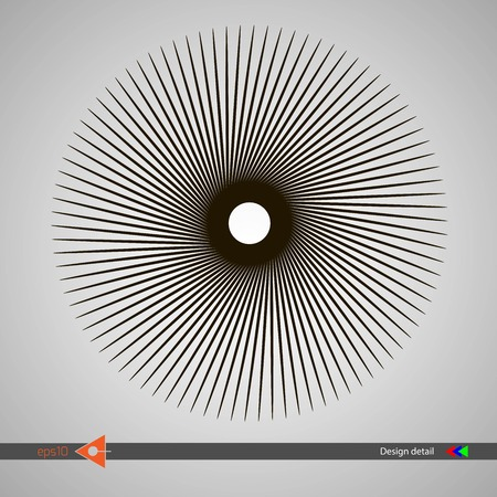 Design of spiral lines. Abstract monochrome background. Vector illustration of no gradient. Ilustrace