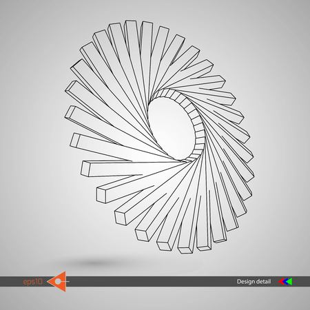 Rotating 3D element for design
