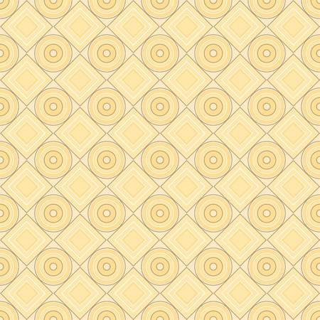 Vector seamless pattern. brown, sand, warm, gentle, rhombus, square, circle, textiles. Modern stylish texture. Repeating geometric figures. Abstract background. Illustration