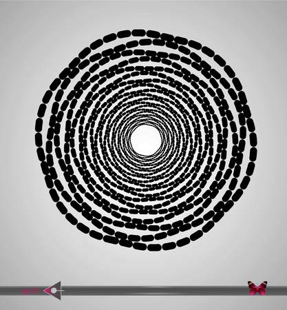 Vector, abstract rotation detail, pattern, symmetric, round pattern for design. 向量圖像