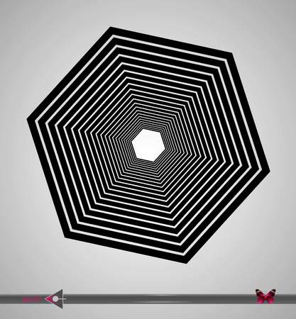 Vector, abstract rotation detail, pattern, symmetric, round pattern for design. Illustration