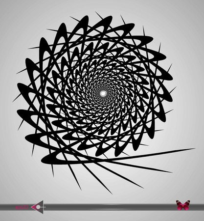 Repeating circular black and white pattern. Round background for design. 일러스트