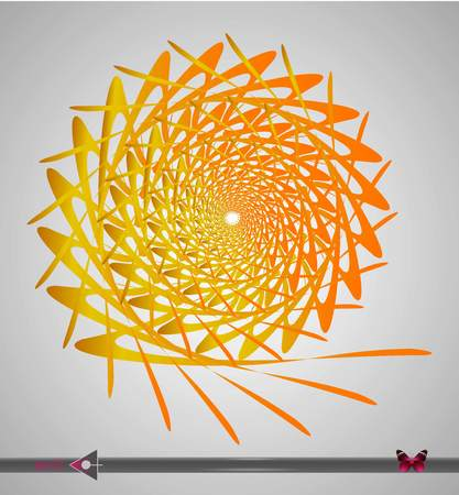 Repeating circular Yellow, orange pattern. Round background for design. Illustration