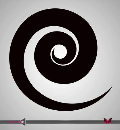 Hypnotic object spiral background. Vector illustration. Abstract rotation.