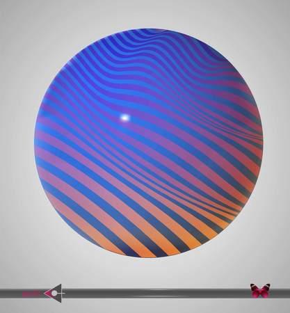 Vector background frame. Multicolor striped, zebra pattern. Background for design.
