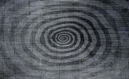 Abstract spiral on black and gray background. Template for design
