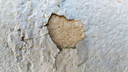 Grunge texture cracked paint, Spot. Craquelure. Background. Banco de Imagens