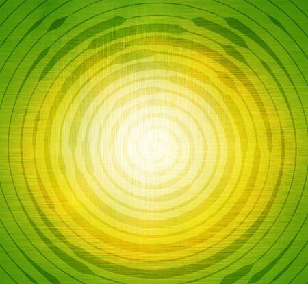 Abstract spiral on green and yellow background. Template for design.