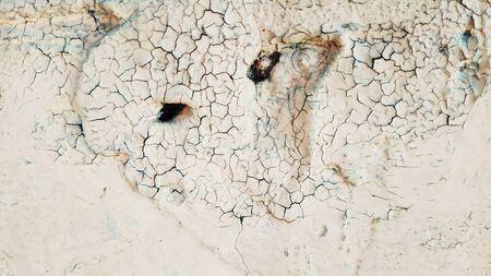 Grunge texture cracked paint. Craquelure. Background.